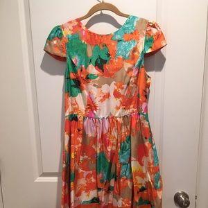 ALI RO Silk floral dress